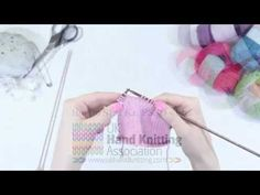 How to slip one, knit one and pass stitch over (SL1,K1,PSSO) - YouTube
