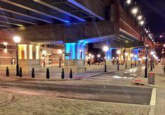 Lighting transforms the 14th St Viaduct pedestrian underpass, Hoboken, NJ. Click image to tweet and visit the slowottawa.ca boards >> https://www.pinterest.com/slowottawa/