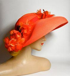 tangerine dream Orange Gloves, Orange Hats, Fascinator Hats, Fascinators, Tangerine Color, Orange Color, Hat Day, Crazy Hats, Orange You Glad