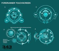 Albee Ng: Halo 4 Concept Art Dump Forerunner Alien Interfaces