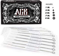 ACE Needles 50 Mixed Assorted Tattoo Needles 6 Sizes - Round Liner 1 3 5 7 9 11 RL -- Details can be found by clicking on the image. (This is an affiliate link) #tattooneedles