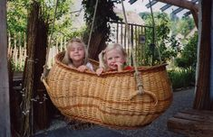 Willow swing - How cool is this! Wonder if family wove it, or if it was bought