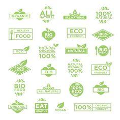 Eco logos template Free Vector