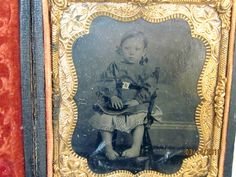 Antique Tintype Photographic Image of A Little Girl in Full Leatherette Case | eBay