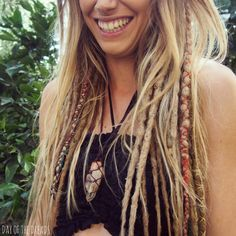 10 Blonde Mix Clip in Dreadlocks - Day of the Dreads by DAYOFTHEDREAD on Etsy https://www.etsy.com/listing/236587719/10-blonde-mix-clip-in-dreadlocks-day-of