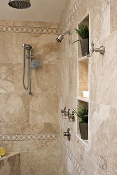 Aster Drive Master Bathroom Remodel love the deep niches