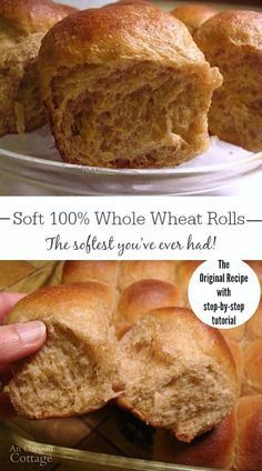 These soft whole wheat rolls are made with 100 whole wheat (and no added gluten!), but are still soft, delicious dinner rolls. THIS is the dinner roll you've been waiting for - everyone will rave about these - I promise!
