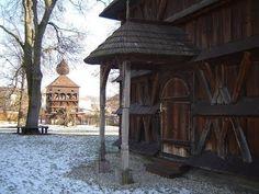 Pohľady zo Slovenska - drevený artikulárny kostol Hronsek Baroque, Gazebo, Outdoor Structures, Painting, Kiosk, Pavilion, Painting Art, Paintings, Cabana