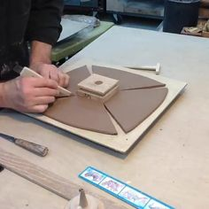 """804 Likes, 9 Comments - Pottery Videos: Ceramic School (@the.ceramic.school) on Instagram: """"How to make a slab bowl ❤ ••• Follow @dhaynebayless for More!"""""""