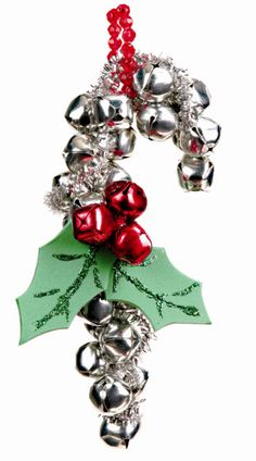 Nicole™ Crafts Bell Candy Cane Ornament #ornaments #craft #christmas