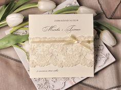 Zaproszenia ślubne koronki