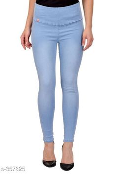 Checkout this latest Jeggings Product Name: *Trendy Denim Jean* Sizes:  28, 30, 32, 36, 40 Country of Origin: India Easy Returns Available In Case Of Any Issue   Catalog Rating: ★4.1 (1541)  Catalog Name: Ladies Solid Tummy Tucker Denim Jeggings Vol 2 CatalogID_38224 C79-SC1033 Code: 814-357825-3501