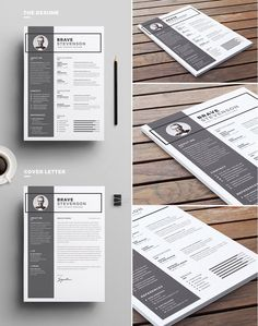 Is landing yourself an awesome job on your New Year's Resolution list this year? If so, you've definitely come to the right place! These design-forward, professional resume, CV and cover letter. Cv Design, Resume Design, Graphic Design, Resume Tips, Resume Cv, Cv Template, Resume Templates, Cover Letter Help, Typography Inspiration