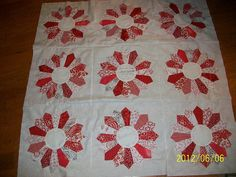 i love red and white quilts