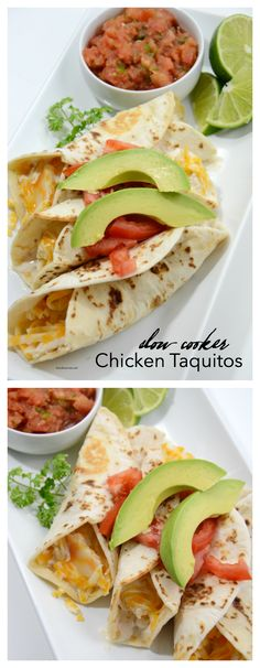 Slow cooker Chicken Taquitos are delicious. Easy and fast, your whole family will love it.