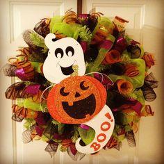 halloween decomesh wreaths   Etsy Wednesday: 6 Unique Halloween Wreaths   Redesign Revolution