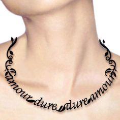 Necklace | Victoria Contreras Flores. 'Vernon Lee' Acrylic with metal chain