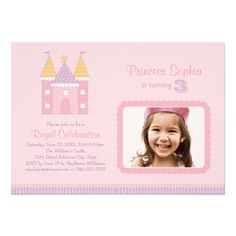 Photo Birthday Party Invitation | Pink Princess.  $1.44