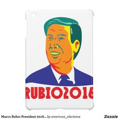 Marco Rubio President 2016 Republican Retro iPad Mini Cover. Marco Rubio for President 2016 Republican candidate retro iPad mini cover with an illustration showing the bust of Marco Rubio, an American senator, politician and Republican 2016 presidential candidate done in retro style with words Rubio 2016. #Rubio2016 #republican #americanelections #elections #vote2016 #election2016