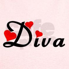 Heart Styled Diva T on CafePress.com