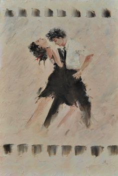 Passion Tango Dance Oil painting Canvas Original work Art work Hand made