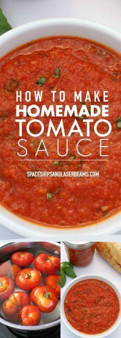 How to Make a Delicious Homemade Tomato Sauce via @spaceshipslb