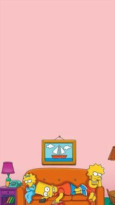 Bart, Lisa y Maggie Wallpaper Tumblr Lockscreen, Cartoon Wallpaper Iphone, Homescreen Wallpaper, Mood Wallpaper, Cute Cartoon Wallpapers, Cute Wallpaper Backgrounds, Aesthetic Iphone Wallpaper, Disney Wallpaper, Simpsons Drawings