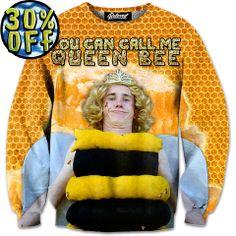 'Queen Bee' Wave Rider Sweatshirt by Beloved Shirts @waverider_
