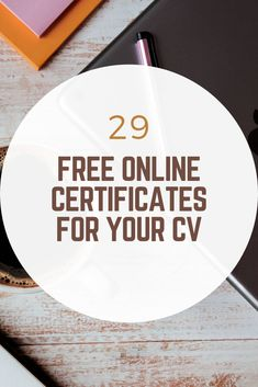 Easy way to boost your resume - Life Hacks That Work - Get some free certs under your belt and wow future employers - Free Certificate Courses, Online Courses With Certificates, Free Certificates, Learning Websites, Educational Websites, Educational Activities, Best Online Courses, Free Courses, Cv Online