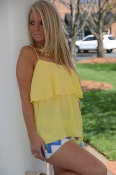 Bit of Sunshine top, yellow – Chapter 2 Boutique