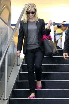 Reese Witherspoon Arrives in LA
