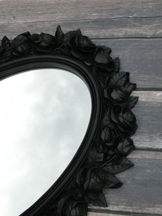 Large Ornate Oval Vintage Mirror Wall Mirror Chunky by TRWpainted