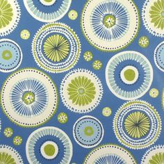 Charnwood Blue Gloss Oilcloth - Only Oilcloth