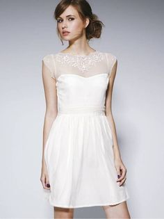 8ec91a00a759 Casual White Wedding Dress - Best Wedding Dress for Pear Shaped Check more  at http