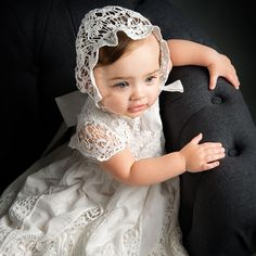 Our Grace Christening Gown & Bonnet is a beautiful gown for your baby. At ChristeningGowns.com we specialize in infant clothes for christenings, baptisms, and holidays.