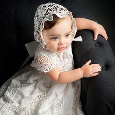 Lace Grace Christening Gown & Bonnet Set