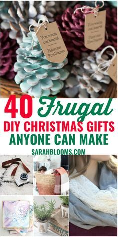 These Easy + Inexpensive DIY Christmas Gifts are sure to please everyone on your list! Check out these Easy + Frugal DIY Christmas Gifts that don't look cheap! christmas gifts 40 DIY Gifts Perfect for Any Occasion - Sarah Blooms Inexpensive Christmas Gifts, Diy Christmas Gifts For Family, Handmade Christmas Gifts, Diy Homemade Christmas Gifts, Christmas Christmas, Meaningful Christmas Gifts, Christmas Ideas, Diy Christmas Gifts For Friends, Creative Christmas Gifts