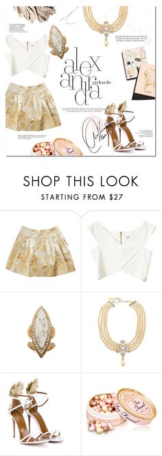 """White&gold"" by tuilindo ❤ liked on Polyvore featuring Rochas, Garance Doré, River Island, Samantha Wills, Chanel, Aquazzura, Bobbi Brown Cosmetics, Inez & Vinoodh, WALL and Marc"