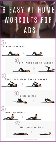 Easy at home workouts for abs you can do without going to the gym build muscle and tone in the core by doing these workouts daily to get a flat tummy ab bungen ohne ausrstung body sixpack workout plan beste bauchmuskeln ja wir trainieren Easy Ab Workout, Flat Tummy Workout, Easy At Home Workouts, Ab Workout At Home, Abs Workout For Women, Workout Plans, Fat Workout, Tone Abs Workout, Stomach Workout For Beginners