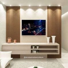 Apartment Interior Design Bedroom Texture Ideas The Effective Pictures We Offer You About TV unit with dressing A quality picture can tell you many things. You can find the most beautiful pictures that can be presented to you about low TV unit in. Wall Unit Designs, Living Room Tv Unit Designs, Tv Unit For Bedroom, Living Room Decor With Tv, Bedroom Wall, Diy Bedroom, Living Rooms, Tv Cabinet Design, Tv Wall Design