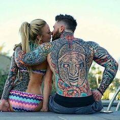 Tattoos=Alex Turner and wife Pair Tattoos, Couple Tattoos, Body Art Tattoos, Sleeve Tattoos, Tatoos, Flag Tattoos, Crazy Tattoos, Ink Tattoo, Beard Tattoo