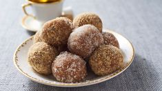 A Christmas cookie plate is even better when it includes a few homemade candies, and this recipe for Rum Balls from the Southern Living archives is one you'll turn to year after year. Originally from our December 1993 issue, this boozy confection was … Rum Recipes, Dessert Recipes, Cook Desserts, Recipies, Retro Recipes, Dessert Bars, Cake Recipes, Sweet Cookies, Sweet Treats