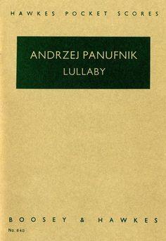 Panufnik: Lullaby - Study Score. £6.99
