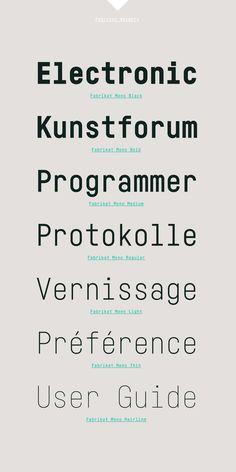Fabrikat Mono by HVD Fonts / #monospace