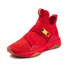 All Red Sneakers, Sneakers Fashion, High Top Sneakers, Adidas Sneakers, Pumas Shoes, Cute Shoes, Red Gold, Athletic Shoes, Outfit Ideas