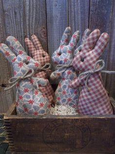 Sweet Primitive Handmade Bunny/Rabbit Bowl Fillers/Ornaments