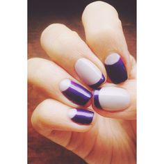 Purple and grey reverse french manicure #nails