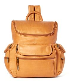 Take a look at this Tan Large Leather Computer Backpack today!