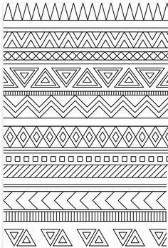 Mandala Art Lesson, Mandala Drawing, Doodle Patterns, Zentangle Patterns, Tribal Patterns, Pattern Coloring Pages, Mandala Coloring Pages, Bullet Journal Ideas Pages, Bullet Journal Inspiration