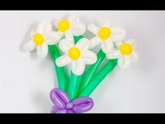 How to make a balloon daisy - Balloon flower tutorial #daisy #flower #balloon #tutorial #ballonanimal #balloonanimals